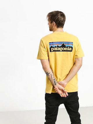 Tričko Patagonia Logo Responsibili (surfboard yellow)