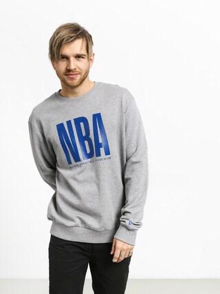 Mikina New Era Nba Logo Crew (heather gray)
