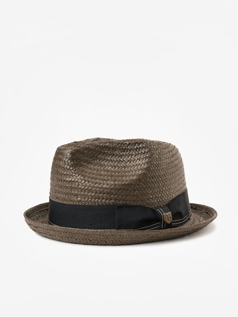 Klobúk Brixton Castor Fedora (washed black/gold)
