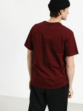 Tričko Nervous Lcd (maroon)