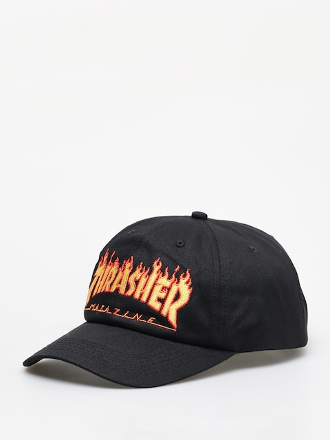 Šiltovka Thrasher Flame Old Timer ZD (black)