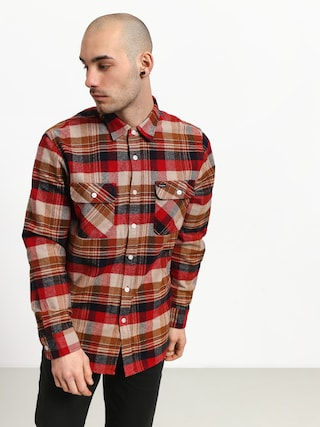 Kou0161eu013ea Brixton Bowery Flannel (red/copper)