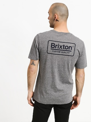 Tričko Brixton Palmer Prem (heather grey/blue)
