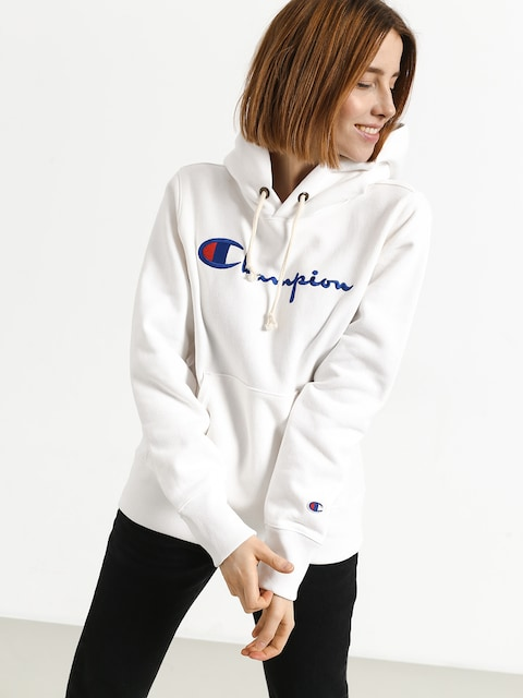 Mikina s kapucňou Champion Hooded Sweatshirt HD Wmn (wht)