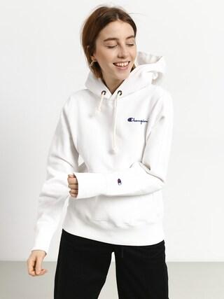Mikina s kapucňou Champion Premium Reverse Weave Hooded Sweatshirt HD Wmn (wht)