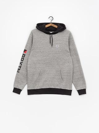 Mikina s kapucňou Brixton Stowell Intl HD (heather grey/black)