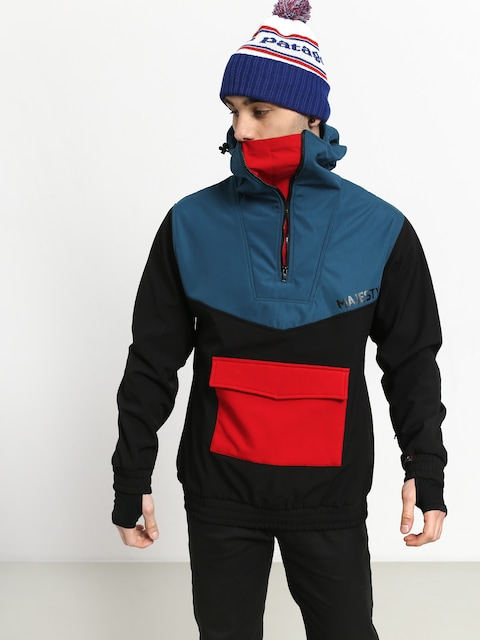 Snowboardová bunda Majesty Anorak (black/red/blue)