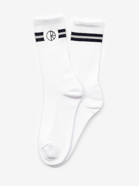 Ponožky Polar Skate Stroke Logo (white/navy)