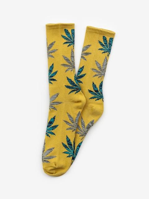 Ponožky HUF Melange Leave (honey mustard)
