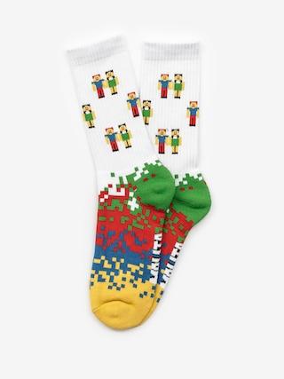 Ponožky Malita Pixel (white)