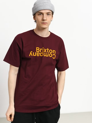 Tričko Brixton Revert II Stt (burgundy)