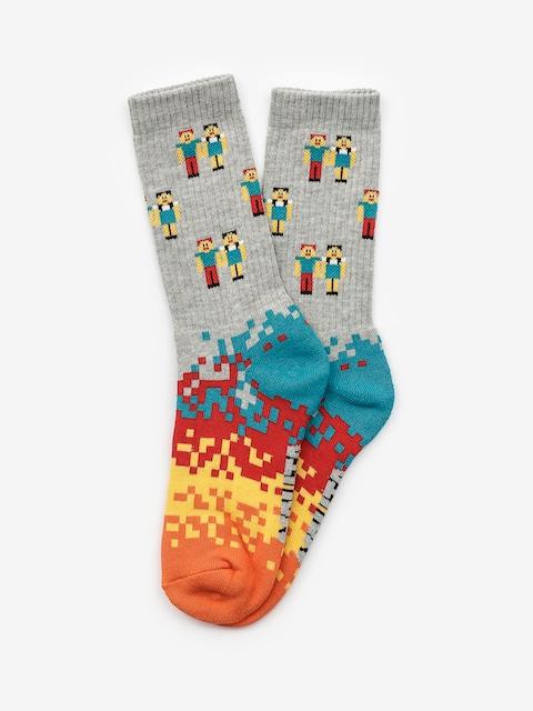 Ponožky Malita Pixel (heathergrey)