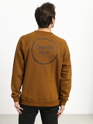 Mikina Brixton Wheeler Intl Crew (washed copper)