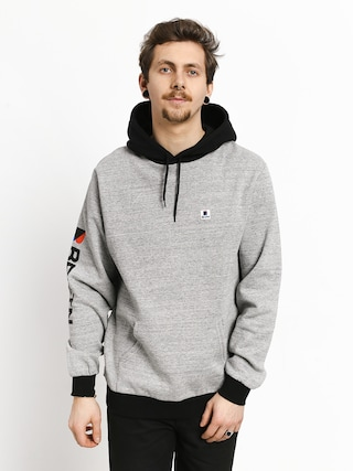Mikina s kapucňou Brixton Stowell Intl HD (heather grey/black)