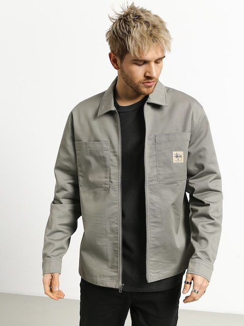 Bunda Stussy Poly Cotton Zip Up (grey)