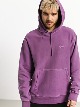 Mikina s kapucňou Stussy Stock Logo HD (purple)