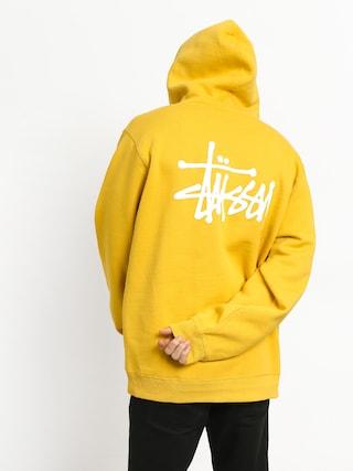 Mikina s kapucňou Stussy Basic HD (yellow)