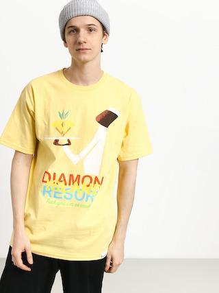 Tričko Diamond Supply Co. Diamond Resort (banana)
