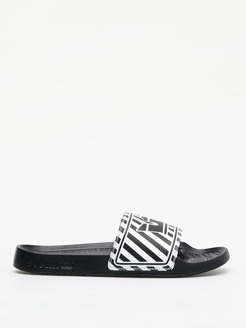 Papuče Supra Lockup (black/white stripe)