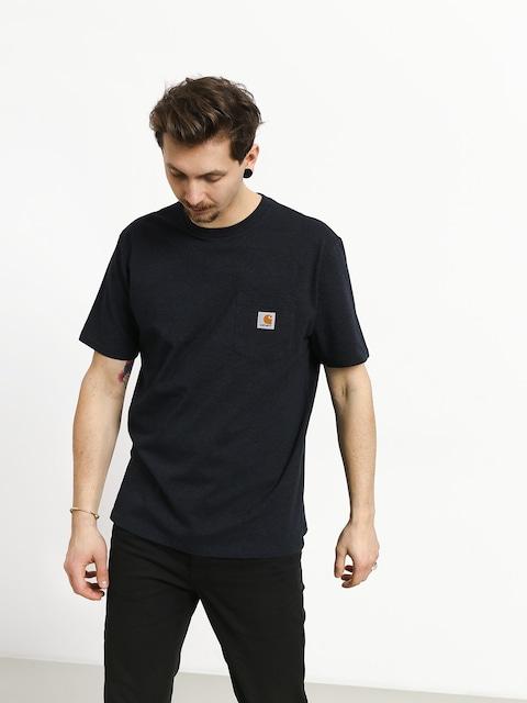Tričko Carhartt WIP Pocket (dark navy heather)
