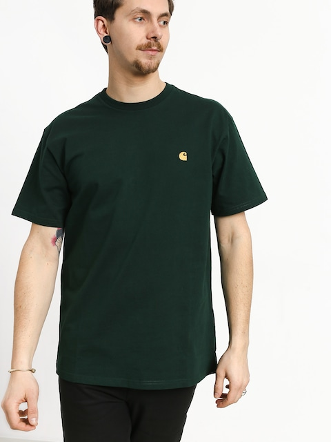 Tričko Carhartt WIP Chase (bottle green/gold)