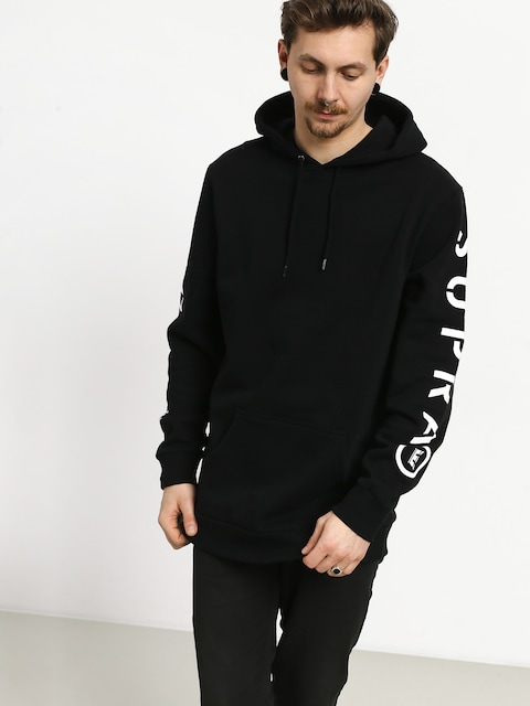 Mikina s kapucňou Supra All Caps HD (black)