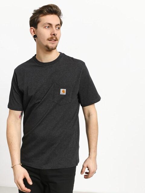 Tričko Carhartt WIP Pocket (black heather)