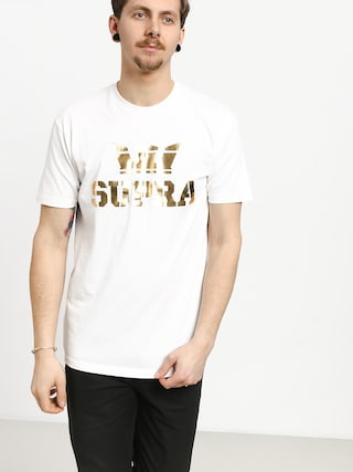 Tričko Supra Above Regular (white/gold)