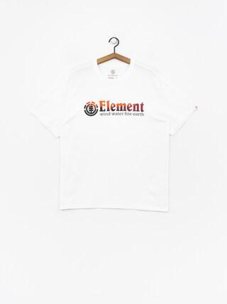Tričko Element Glimpse Horizontal (optic white)