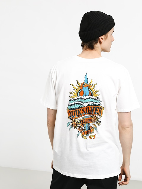 Tričko Quiksilver Tattered (white)