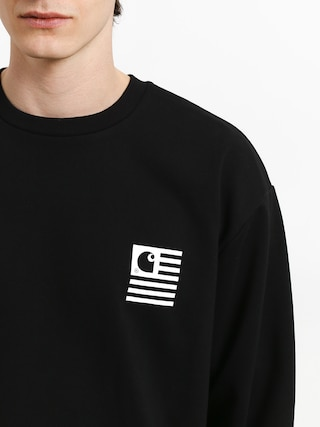 Mikina Carhartt WIP State Patch (black)