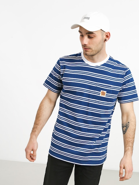Tričko Turbokolor Stripes Pocket Heinz (blue/white)