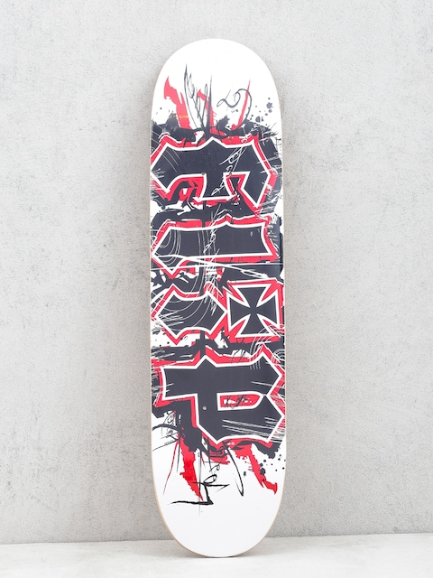 Doska Flip HKD Team Scratch (white/black/red)