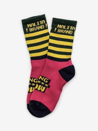 Ponožky Malita Wow (pink)