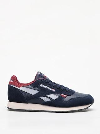 Topu00e1nky Reebok Cl Leather Mu (navy/red/stucco/grey)