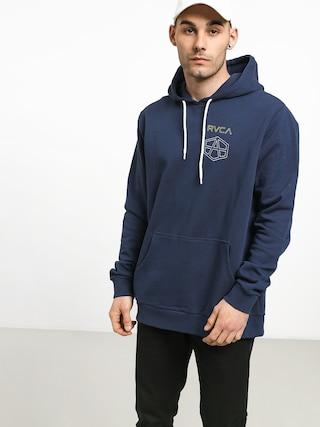 Mikina s kapucňou RVCA Reynolds HD (seattle blue)