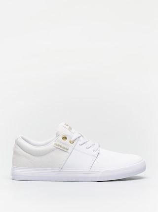 Topu00e1nky Supra Stacks Vulc II (white/gold white)
