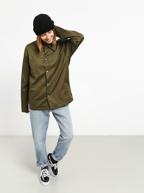 Košeľa The Hive Military Overshirt Wmn (military)