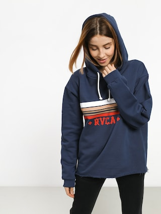 Mikina s kapucňou RVCA Retro Rvca HD Wmn (seattle blue)