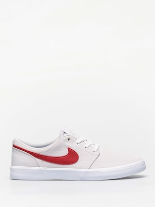 Topu00e1nky Nike SB Sb Solarsoft Portmore II Canvas (vast grey/university red white black)