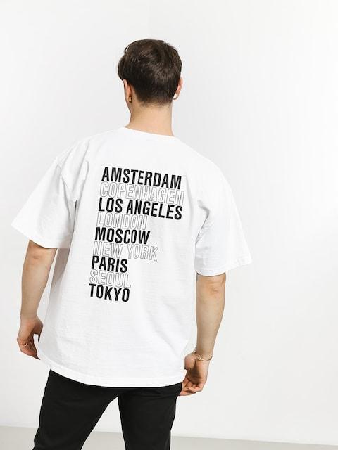 Tričko OBEY Obey Intl Cities (white)