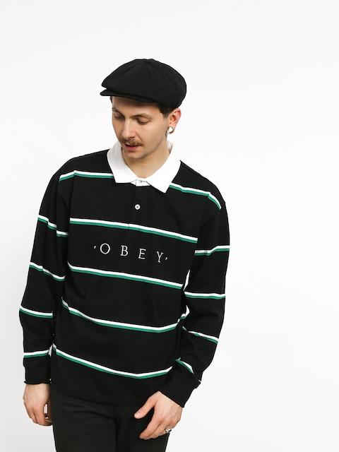 Tričko Polo OBEY Washer Classic Ls (black/multi)