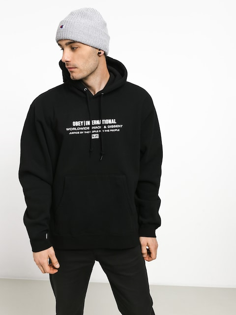 Mikina OBEY Justice By The People (black)
