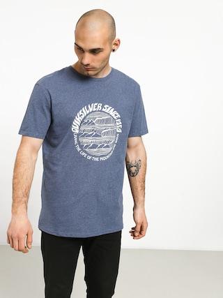 Tričko Quiksilver Good Arvo (bijou blue heather)
