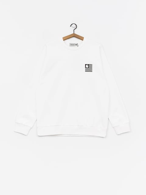 Mikina Carhartt WIP State Patch (white)