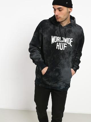Mikina s kapucňou HUF Manhattan HD (black)