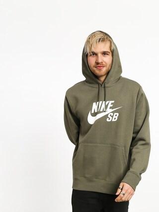 Mikina s kapucňou Nike SB Sb Icon HD (medium olive/white)