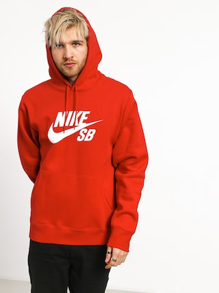 Mikina s kapucňou Nike SB Sb Icon HD (university red/white)