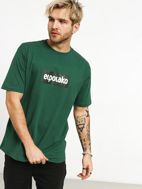 Tričko El Polako Logobox (green)