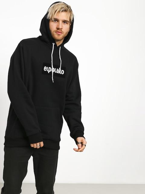 Mikina s kapucňou El Polako Logobox HD (black)